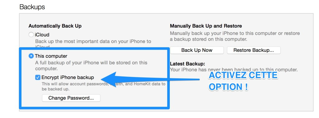 iPhone Backup Tip