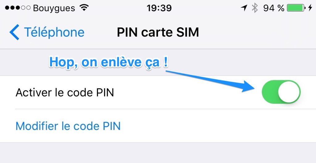 iPhone PIN SIM