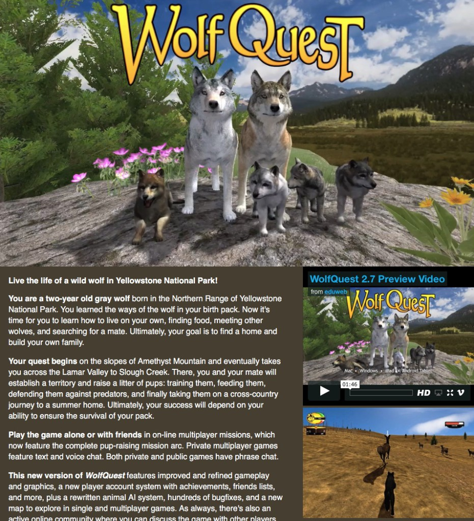 itch.io Wolf Quest