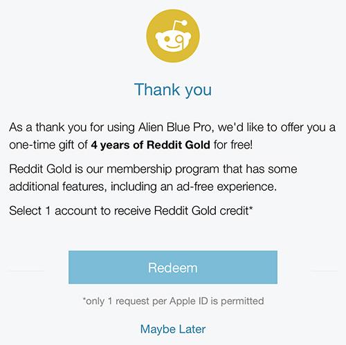 Alien Blue Free Reddit Gold