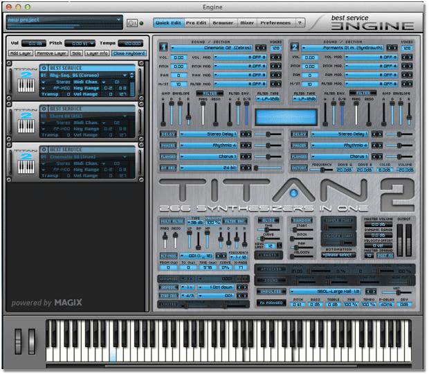 Titan 2 interface