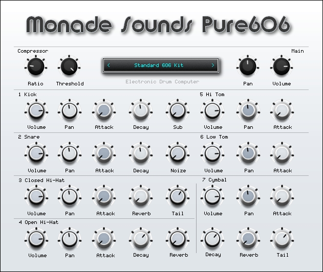 Monade Sounds Pure606 Drum Machine