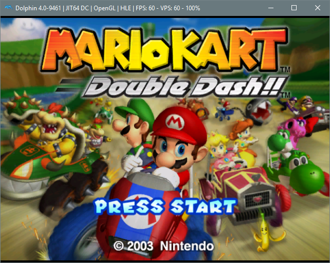 Emulateur Dolphin (Mario Kart sur Gamecube)