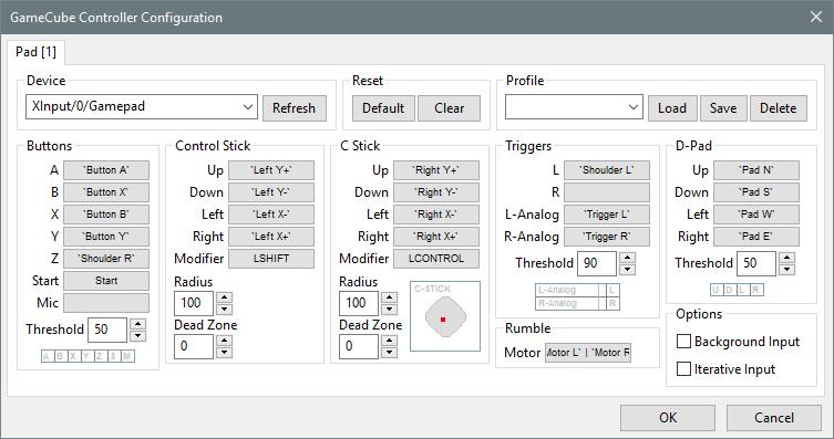 Emulateur Dolphin (Configuration Xbox Pad)