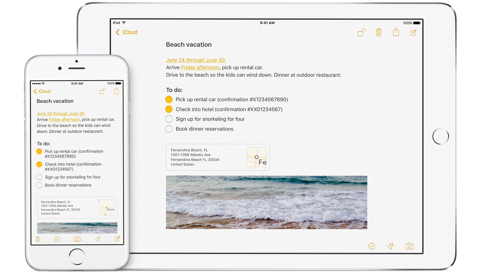 Apple Notes iOS 9