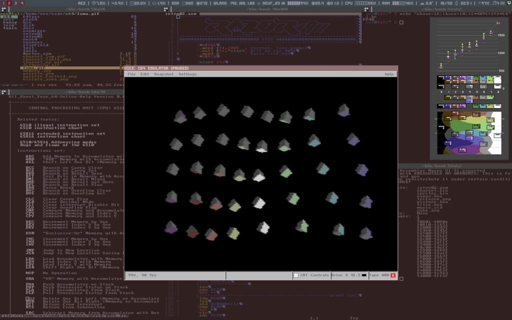 Rez Desktop c64 cubes Linux
