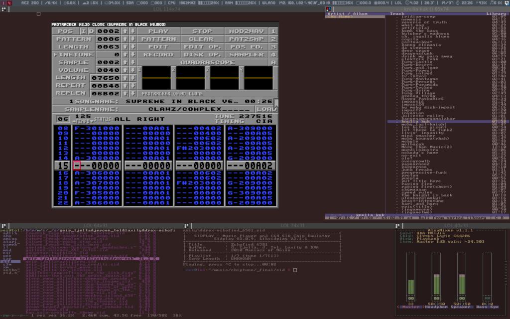 Rez desktop music linux