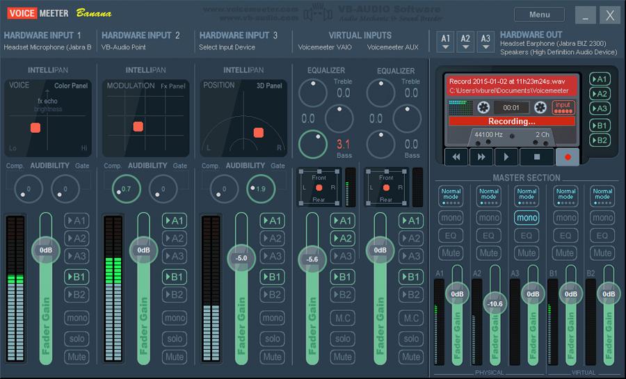 table de mixage virtuel pour stream