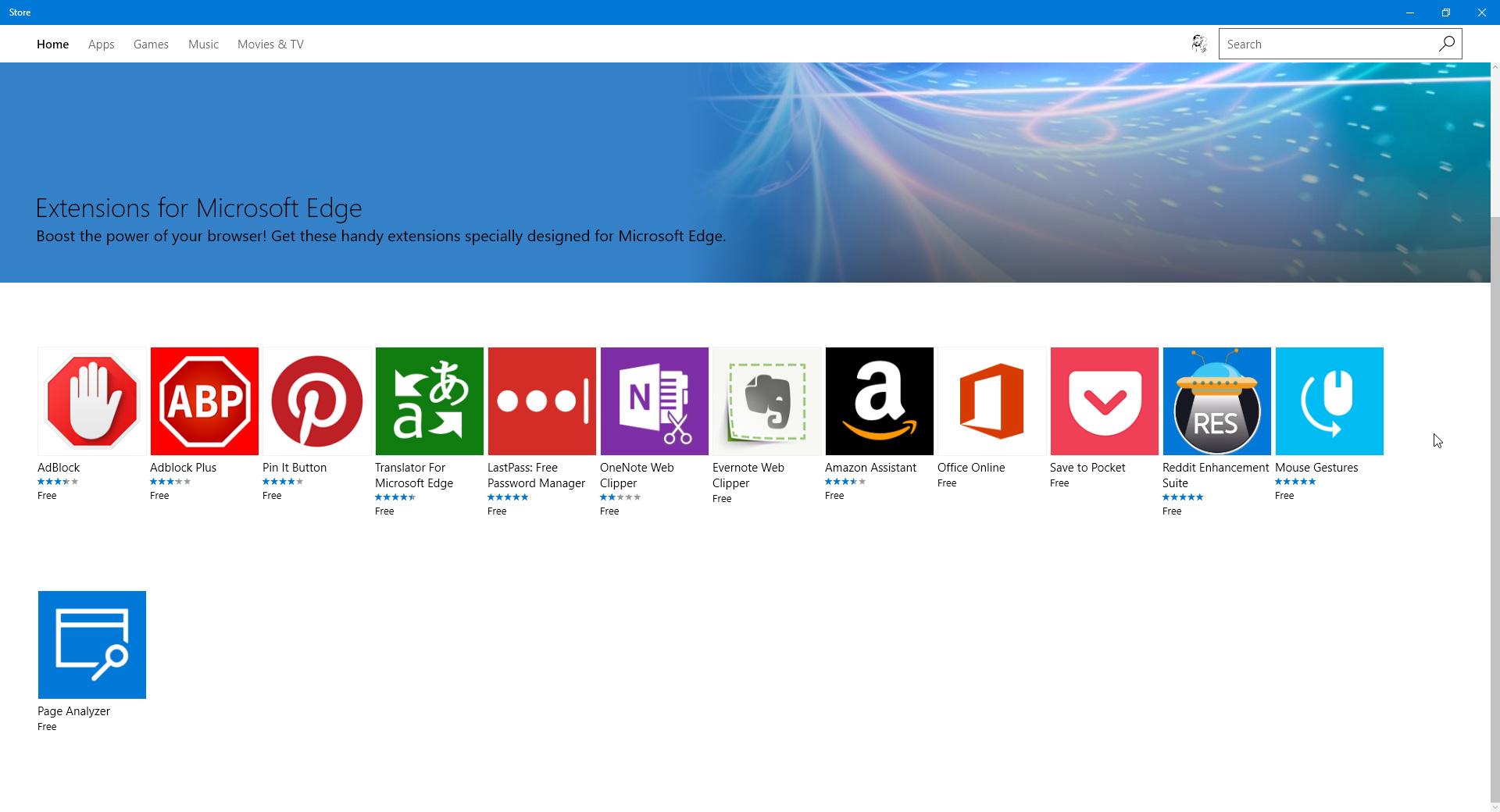 Windows 10 - Edge Extensions