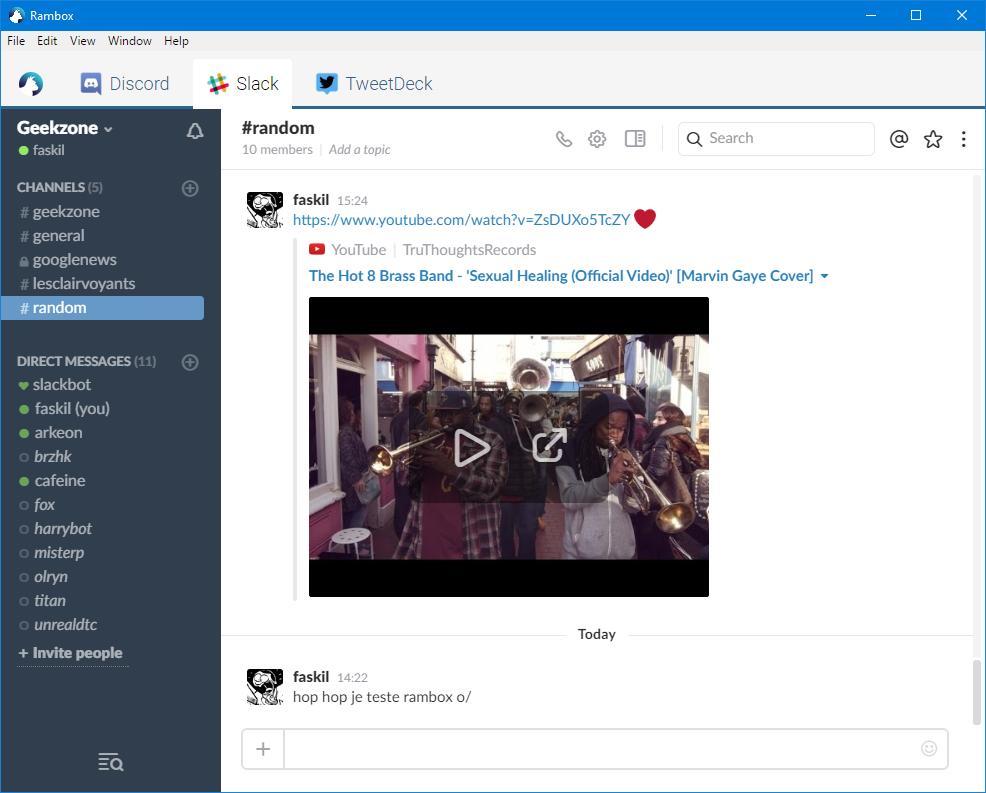 Rambox : l'autre app multi-clients pour être connecté