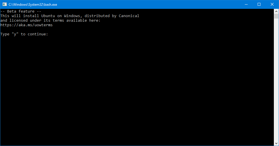 Bash for Windows