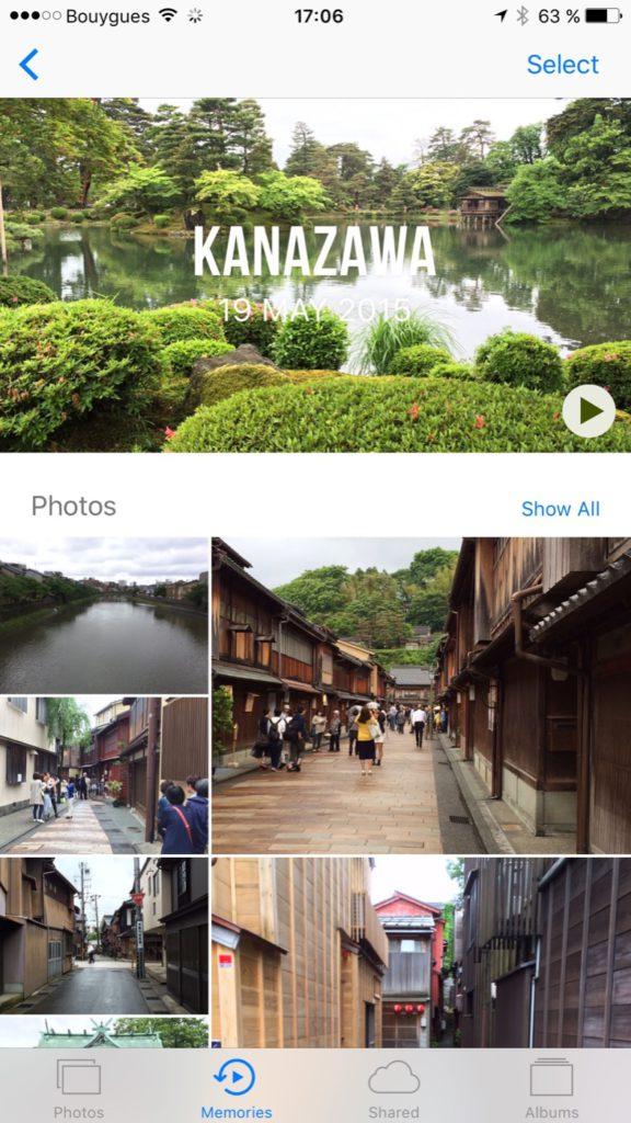 Apple Memories iOS 10