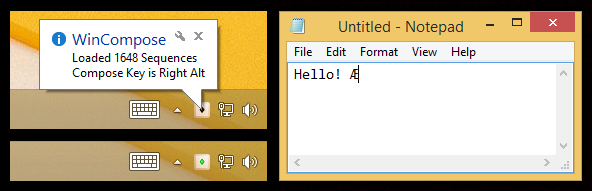 Wincompose (taskbar)