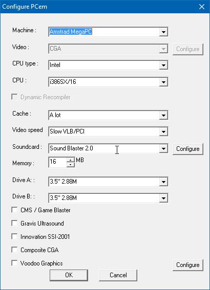 PCem (options)