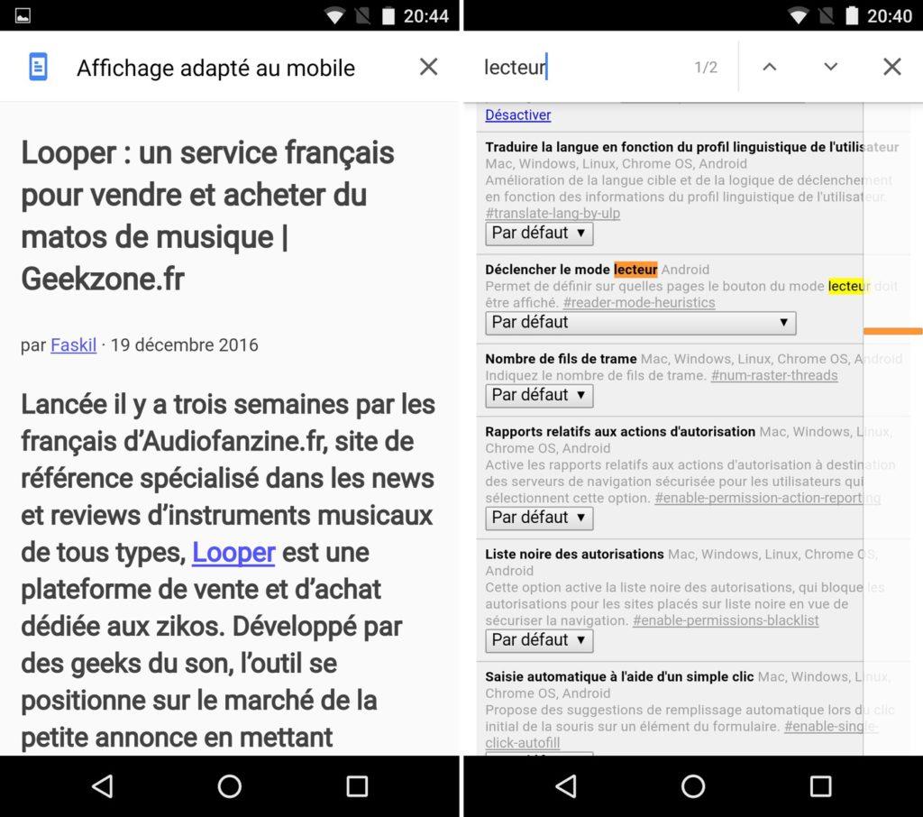 Reader Chrome Mobile