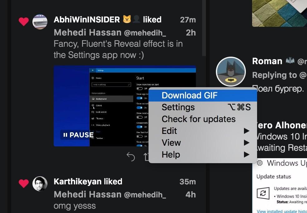Tweeten GIF
