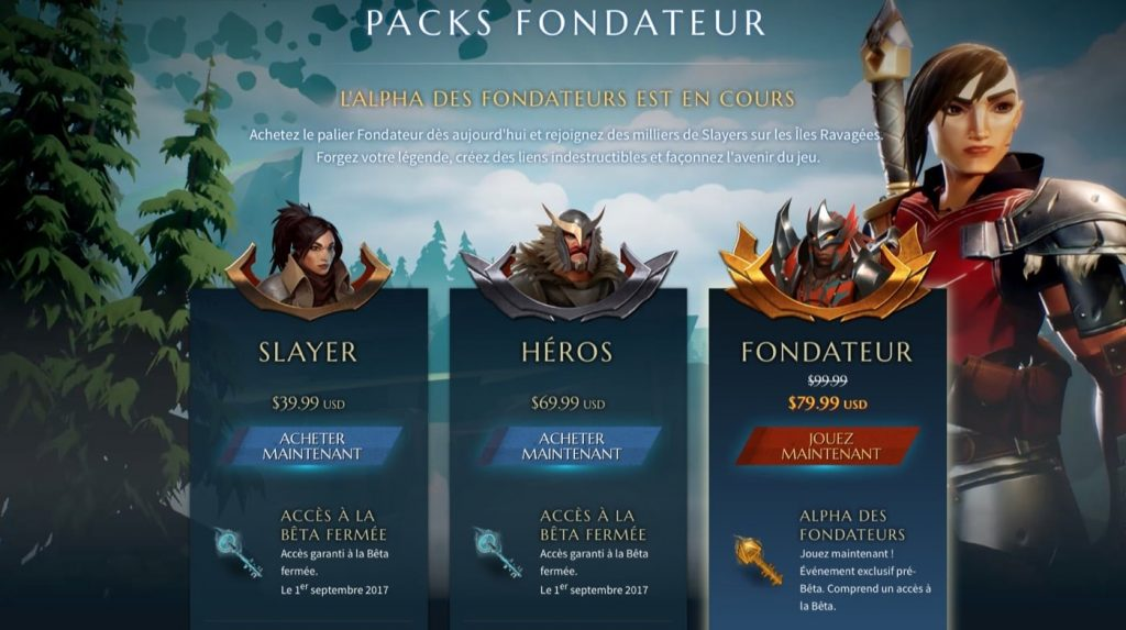 Dauntless Packs