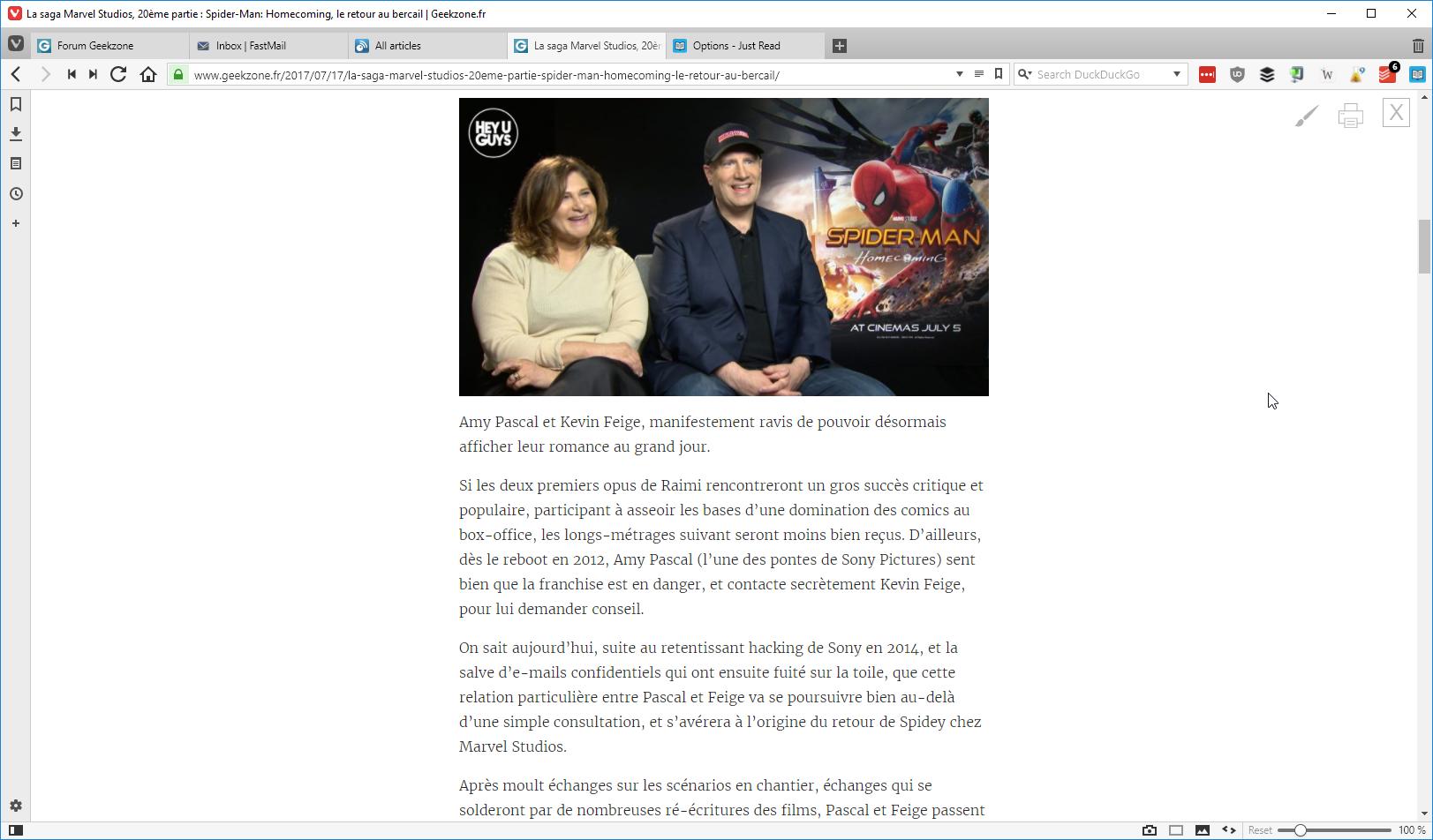 Just Read Une Extension Chrome Pour Se Simplifier La Lecture Geekzone Fr