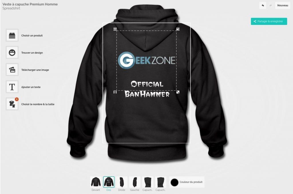 Boutique GZ - Hoodie Geekzone Custo
