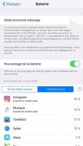 iOS - Batterie 1