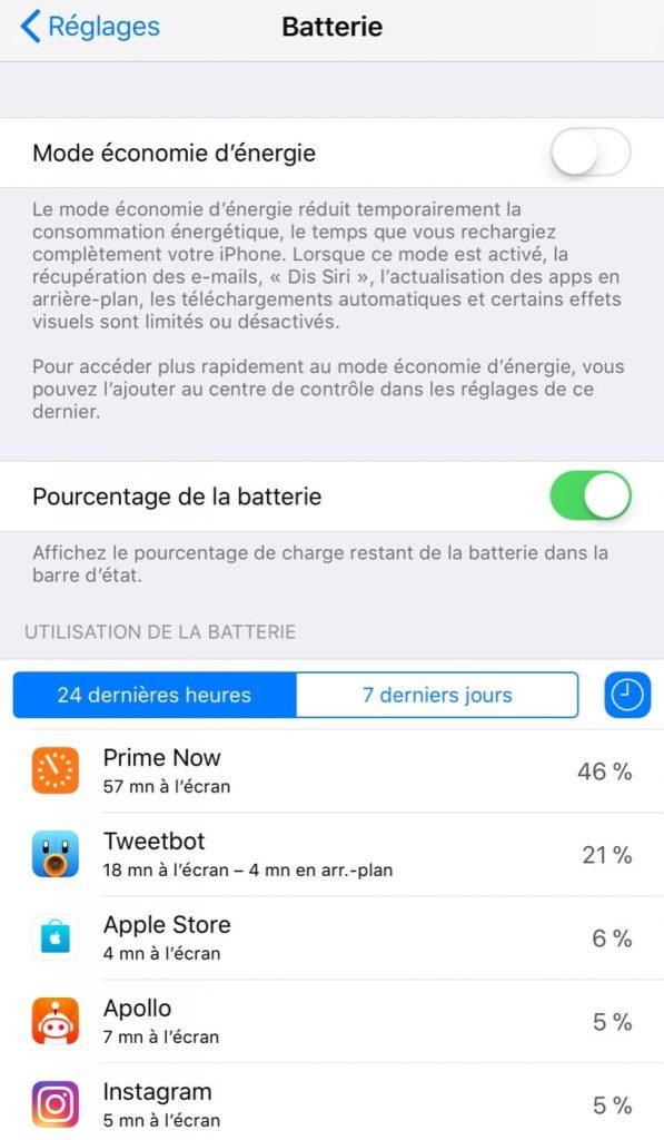 iOS - Batterie 2