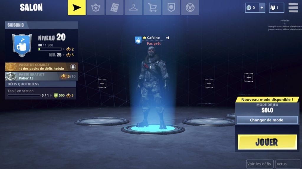 Fornite Mobile Lobby