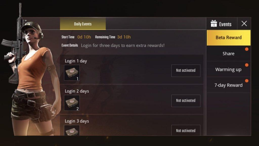 PUBG Mobile Rewards