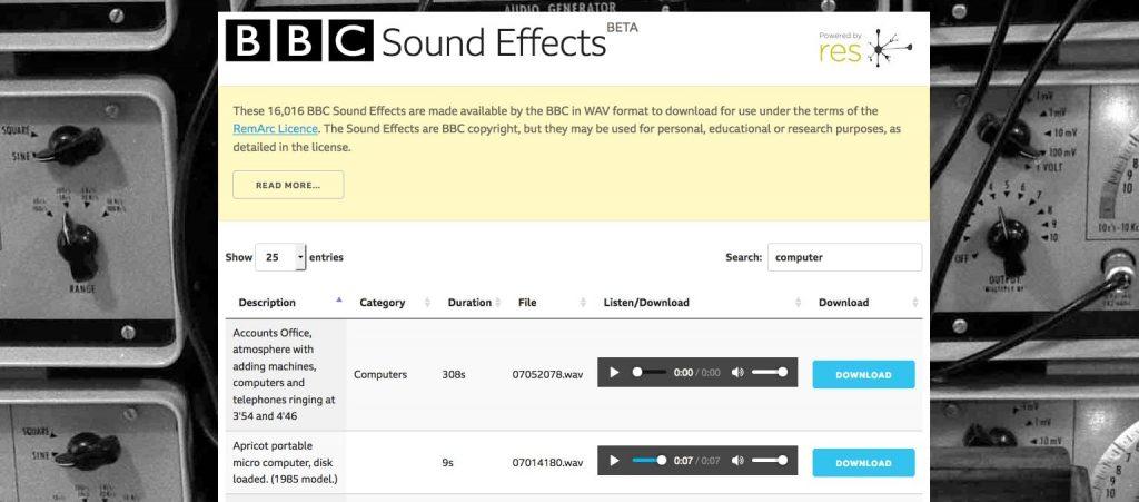 BBC Sound Effects