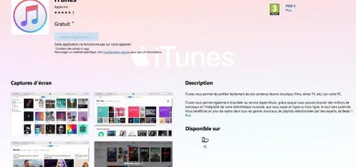 iTunes Microsoft Store