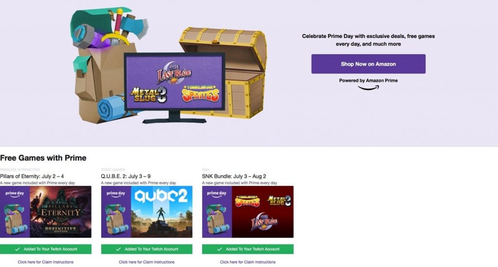 Twitch Prime Home