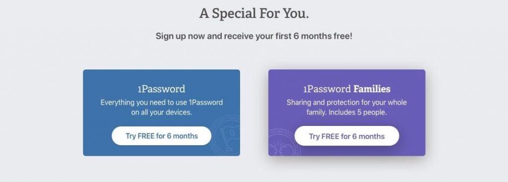1Password promotion
