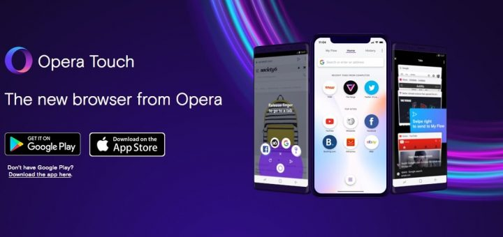 Opera Touch Banner