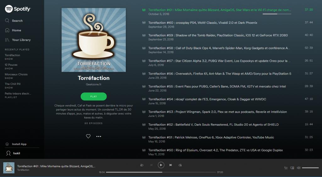 Torréfaction sur Spotify