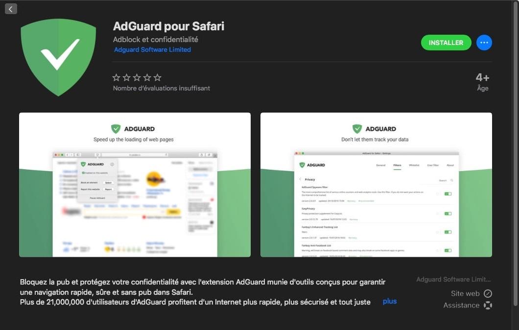 AdGuard met à jour le meilleur bloqueur de pub pour Safari | Geekzone fr