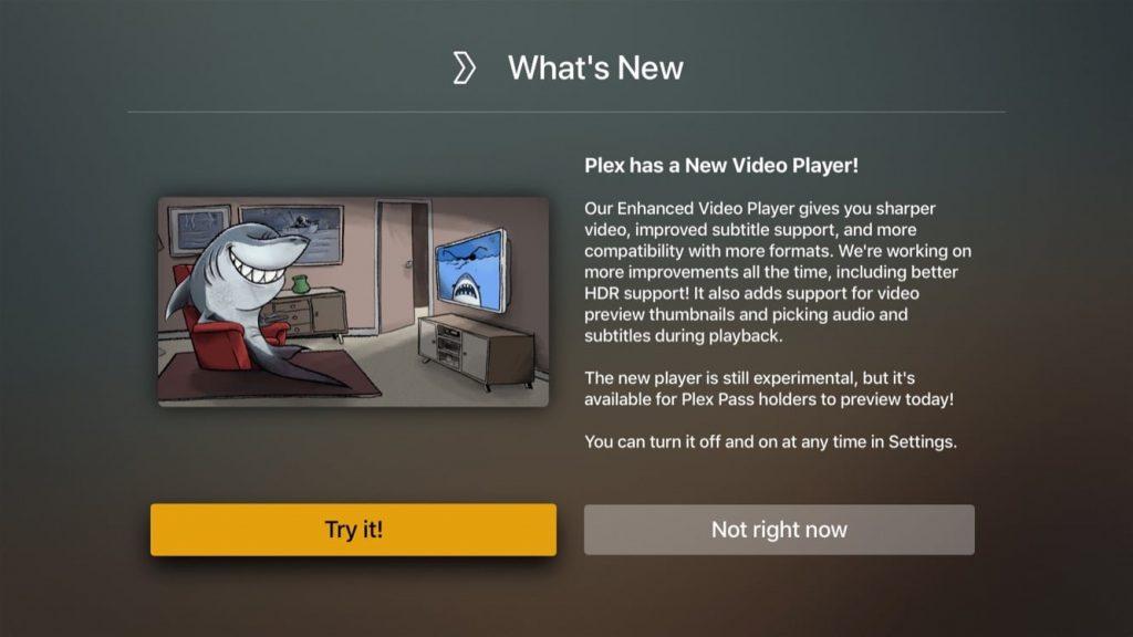 plex new video player