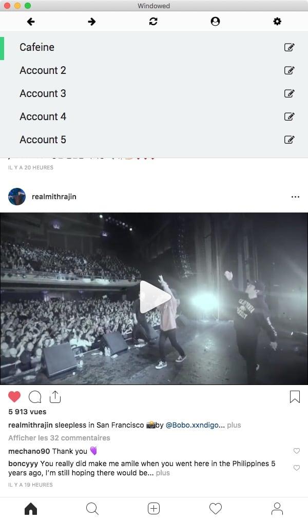 Windowed accounts