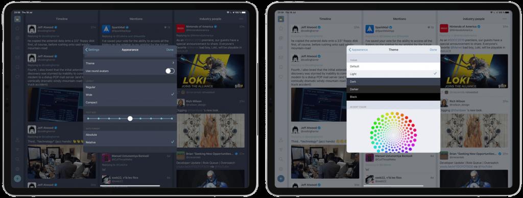 Fenix Twitter iPad appearance