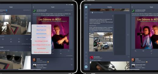 Fenix Twitter iPad interractions
