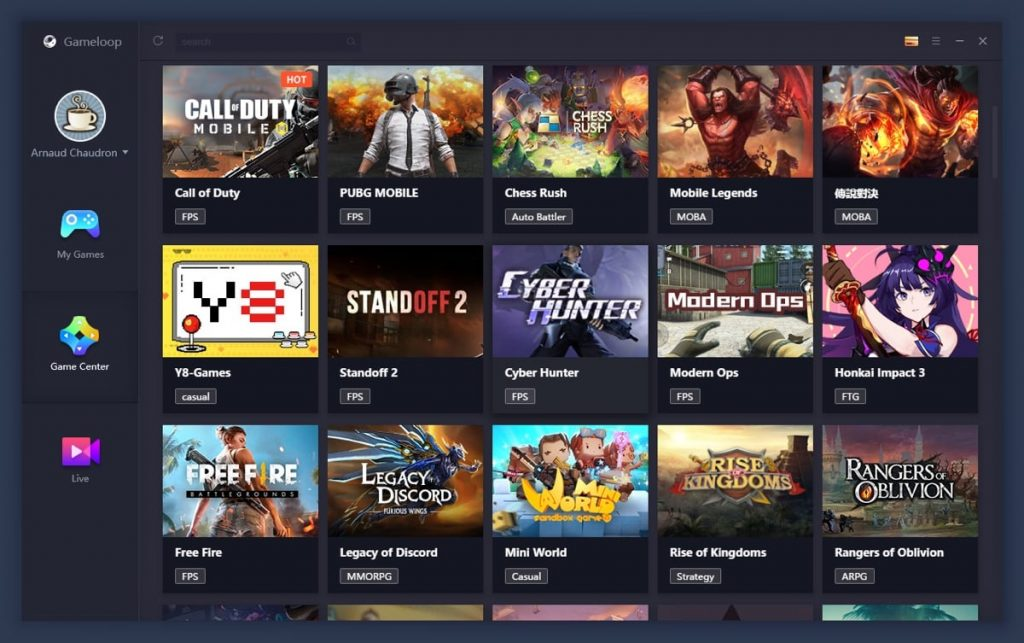 AppMarket Tencent GameLoop