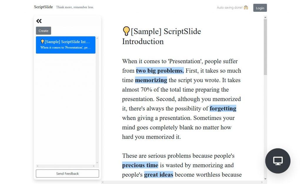 Script Slide