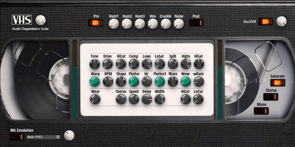 VHS Audio Degradation Suite